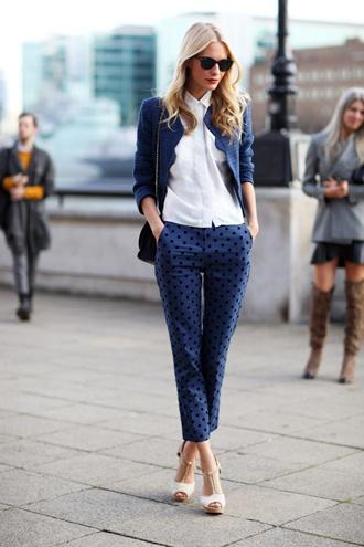 London print pants