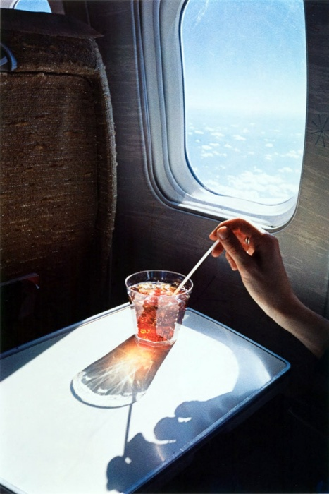 Champers on a plane